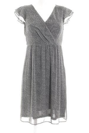 Esprit A-Linien Kleid schwarz-weiß abstraktes Muster schlichter Stil