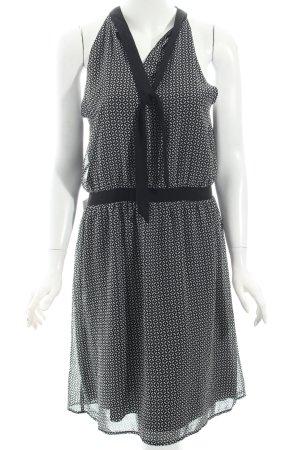 Esprit A-Linien Kleid schwarz-weiß Ornamentenmuster Eleganz-Look