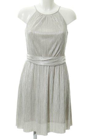 Esprit A-Linien Kleid silberfarben-creme Streifenmuster Party-Look