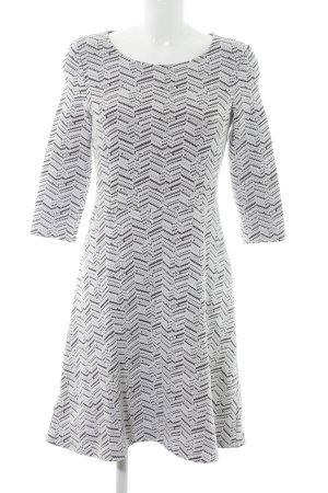 Esprit A-Linien Kleid weiß-anthrazit Casual-Look