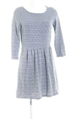 Esprit A-Linien Kleid weiß-dunkelblau Casual-Look