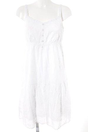 Esprit A-Linien Kleid weiß florales Muster Romantik-Look