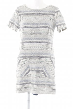 Esprit A-Linien Kleid weiß-himmelblau Webmuster Elegant