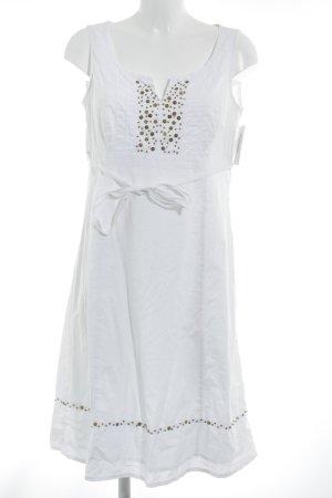 Esprit A-Linien Kleid weiß Romantik-Look