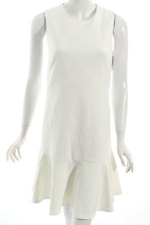 Esprit A-Linien Kleid weiß Volantbesatz
