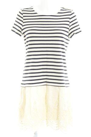 Esprit A-Linien Kleid wollweiß-dunkelblau Mustermix Casual-Look