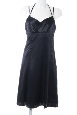 Esprit Abendkleid dunkelblau Webmuster Casual-Look
