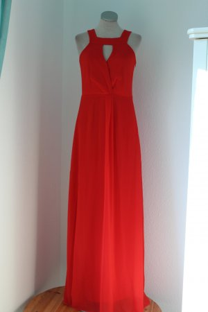 Esprit Abendkleid rot lang Kleid neu Gr. 34 XS festlich