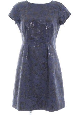 Esprit Abendkleid schwarz-dunkelblau florales Muster Elegant