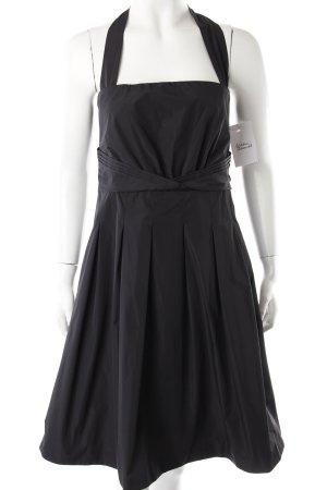 Esprit Abendkleid schwarz Glanz-Optik