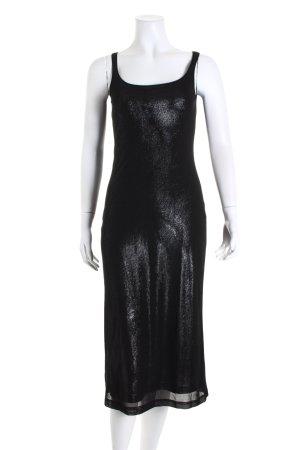 Esprit Abendkleid schwarz-silberfarben Glitzer-Optik