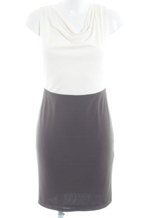 Esprit Abendkleid weiß-graubraun Casual-Look