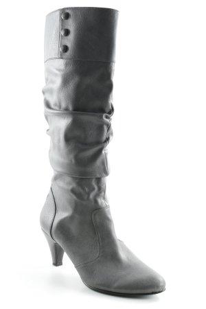 Esprit Absatz Stiefel grau-schwarz schlichter Stil