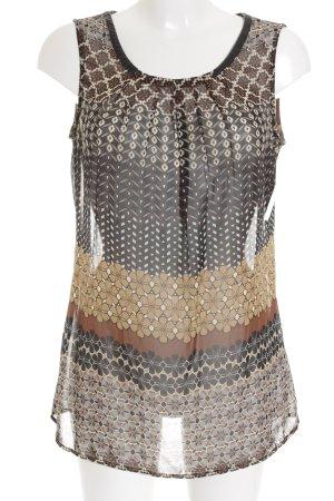 Esprit ärmellose Bluse abstraktes Muster schlichter Stil