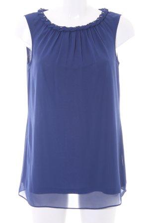Esprit ärmellose Bluse blau Elegant