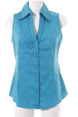 Esprit ärmellose Bluse blau klassischer Stil