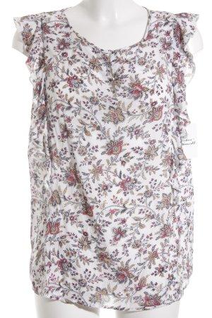 Esprit ärmellose Bluse florales Muster Casual-Look