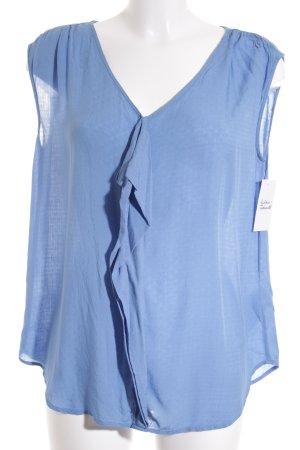 Esprit ärmellose Bluse kornblumenblau Casual-Look