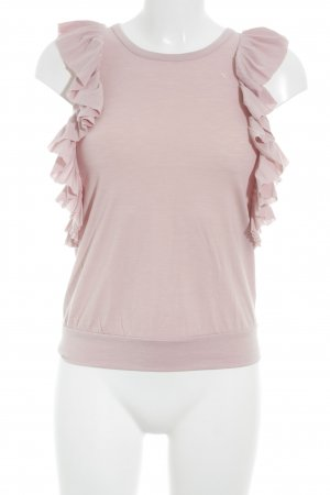 Esprit ärmellose Bluse rosa Casual-Look