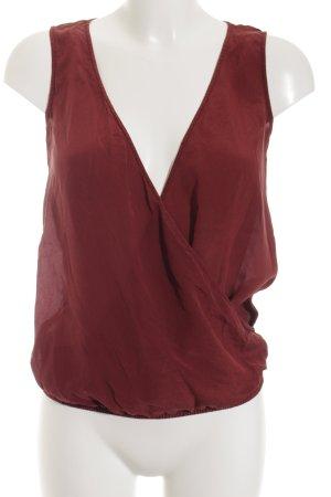 Esprit ärmellose Bluse rostrot schlichter Stil