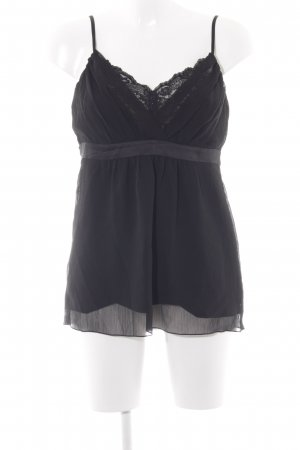 Esprit ärmellose Bluse schwarz Elegant