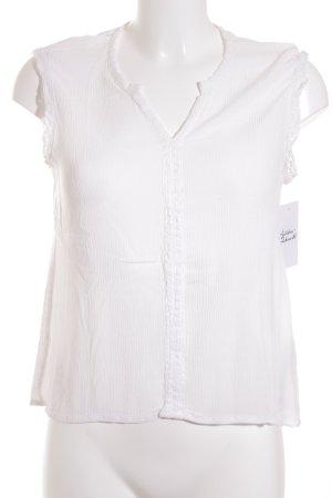 Esprit ärmellose Bluse weiß klassischer Stil