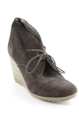 Esprit Ankle Boots dunkelbraun-hellbraun Street-Fashion-Look