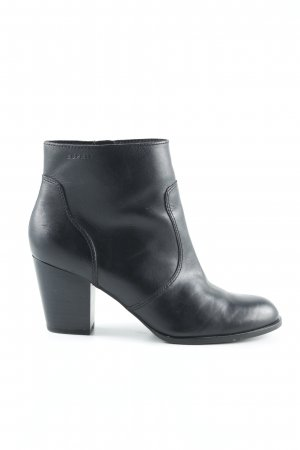 Esprit Ankle Boots schwarz Biker-Look