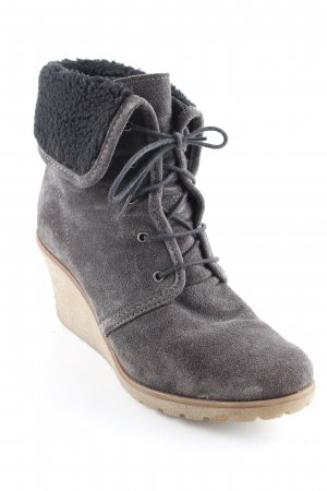 Esprit Ankle Boots taupe-schwarz Casual-Look