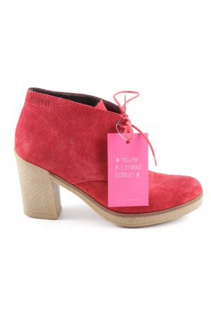 Esprit Low boot rouge brique-beige style décontracté