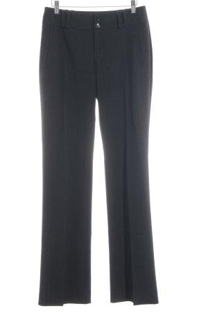 Esprit Pantalone da abito antracite-grigio chiaro gessato stile professionale