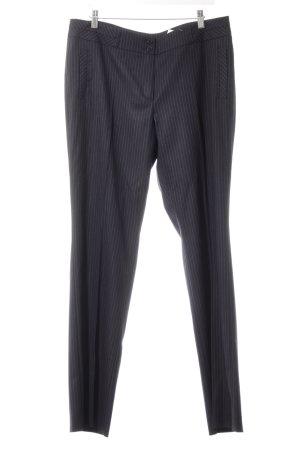 Esprit Anzughose dunkelblau-wollweiß Nadelstreifen Business-Look