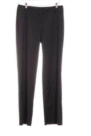 Esprit Anzughose schwarz-grau Streifenmuster Business-Look