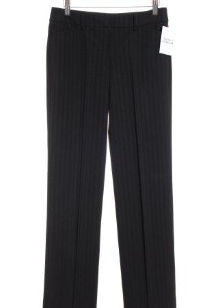 Esprit Anzughose schwarz Streifenmuster Business-Look