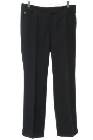 Esprit Pantalone da abito nero motivo a righe stile professionale