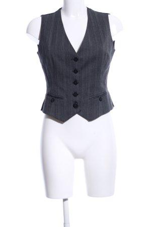 Esprit Gilet de costume noir-gris clair motif rayé style d'affaires