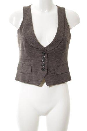 Esprit Waistcoat brown check pattern elegant