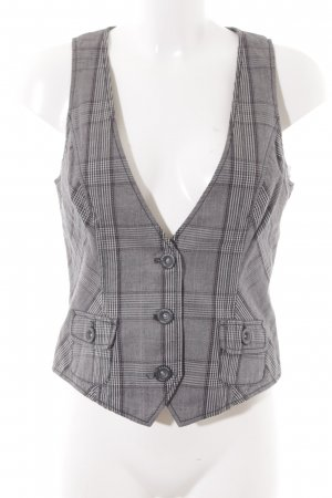 Esprit Waistcoat black-natural white check pattern simple style