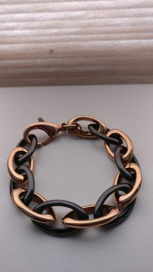 Esprit Armband in rósegold und schwarz