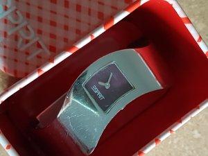 Esprit Reloj con pulsera metálica color plata-violeta oscuro