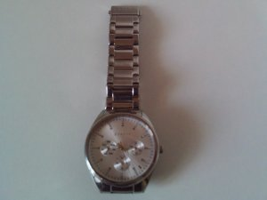 Esprit Watch With Metal Strap silver-colored real silver