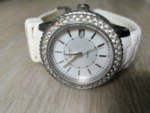 Esprit Armbanduhr mit weißem Armband