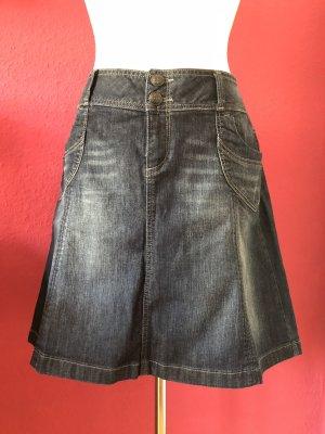 Esprit Denim Skirt multicolored cotton