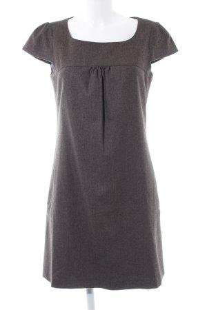 Esprit Babydollkleid graubraun-schwarz Zackenmuster Elegant