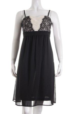Esprit Babydollkleid schwarz-creme Elegant