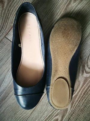 Esprit, Ballerinas, schlicht,dunkelblau, Gr. 39, wenig getragen
