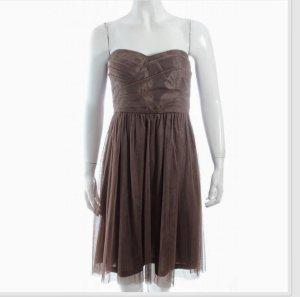 esprit collection Abito da ballo marrone-grigio Fibra tessile