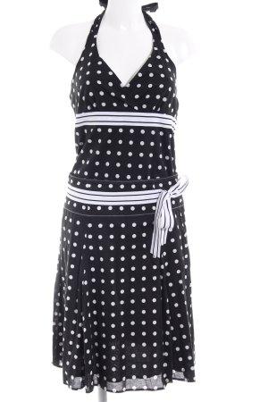 Esprit Ballonkleid schwarz-weiß abstrakter Druck Retro-Look