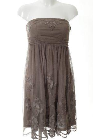 Esprit Vestido bandeau marrón estampado floral elegante