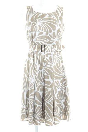 Esprit Bandeaukleid graubraun-wollweiß florales Muster Party-Look